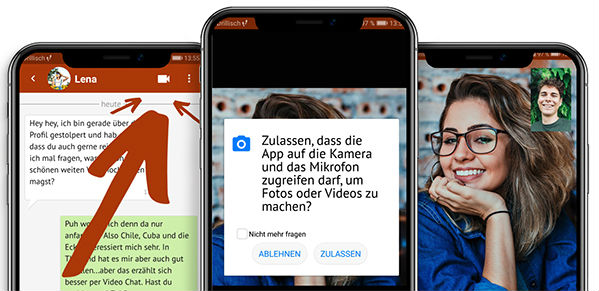 So funktioniert der Video-Chat für Frankfurter Singles